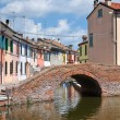 Sisti Bridge. Comacchio. Emilia-Romagna. Italy. - Stock Photo