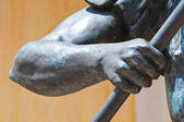 Detail of a bronze statue. — Stock Photo