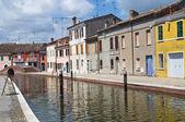 View of Comacchio. Emilia-Romagna. Italy. — Stok fotoğraf