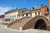 Carmine bridge. Comacchio. Emilia-Romagna. Italy. — Stock Photo