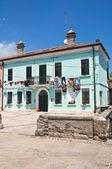 Typical house. Comacchio. Emilia-Romagna. Italy. — Stock Photo