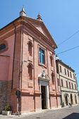 Church of the Rosary. Comacchio. Emilia-Romagna. Italy. — Stock Photo