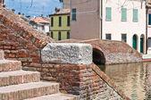 St.Peter's Bridge. Comacchio. Emilia-Romagna. Italy. — Foto de Stock