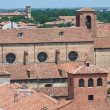 Panoramic view of Ferrara. Emilia-Romagna. Italy. - Stock Photo