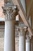 Marble columns. City Hall. Ferrara. Emilia-Romagna. Italy. — Stock Photo