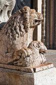 Cathedral of St. George. Ferrara. Emilia-Romagna. Italy. — Stock Photo