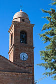 St.Vicinio Belltower Church. Torriana. Emilia-Romagna. Italy. — Stock Photo