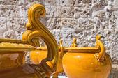 Keramické muzeum. episcopio hrad. grottaglie. puglia. itálie. — Stock fotografie