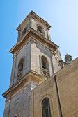 Belltower Cathedral Basilica. Oria. Puglia. Italy. — Stock Photo