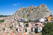 Panoramic view of Pietrapertosa. Basilicata. Italy. — Stock Photo
