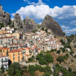 Panoramic view of Castelmezzano. Basilicata. Italy. - Foto de Stock