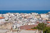 Panoramatický pohled na vieste. Puglia. Itálie. — Stockfoto
