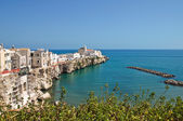 Vista panoramica di vieste. puglia. italia. — Foto Stock