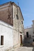St. Elia profeta Cathedral. Peschici. Puglia. Italy. — Stock Photo