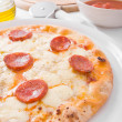 Stock Photo: Pepperoni Pizza.