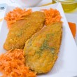 Royalty-Free Stock Photo: Spinach cutlet on white dish.