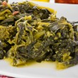 Stewed turnip greens. — Stock Photo