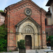 Gothic church. Grazzano Visconti. Emilia-Romagna. Italy. — Stock Photo