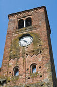 Clocktower. Vigolo Marchese. Emilia-Romagna. Italy. — Stock Photo