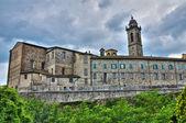 ボッビオのパノラマ風景。エミリア = ロマーニャ州。イタリア. — ストック写真