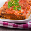Eggplant Parmigiana. - Stock Photo