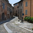 Alleyway. Castell'arquato. Emilia-Romagna. Italy. - Stock Photo