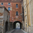 Alleyway. Castell'arquato. Emilia-Romagna. Ital - Stock Photo