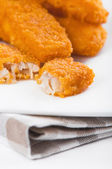 Paluszki rybne smażone. bastoncini di pesce. — Zdjęcie stockowe