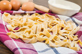 Homemade fresh pasta. — Stockfoto