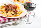 Tagliatelle with Bolognese Sauce. — Stock Photo