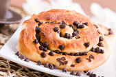 Chocolate chip brioche buns. — Foto de Stock