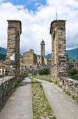 Hunchback Bridge. Bobbio. Emilia-Romagna. Italy. — Stock Photo
