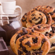 Chocolate chip brioche buns. — Stock Photo #9782753