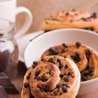 Chocolate chip brioche buns. — Stock Photo #9783272