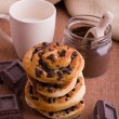 Chocolate chip brioche buns. - Stockfoto