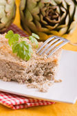 Artichoke Pie. — Stock Photo