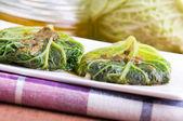 Savoy cabbage roulades. — Stock Photo