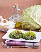 Roulades de repolho de savoy. — Foto Stock