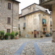 Stock Photo: Alleyway. Travo. Emilia-Romagna. Italy.