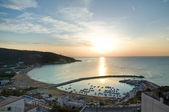 Panoramic view of Peschici. Puglia. Italy. — Stock Photo