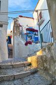 Alleyway. Peschici. Puglia. Italy. — Stock Photo