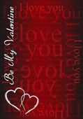 Be my Valentine - I love you card illustration design — Stock Photo