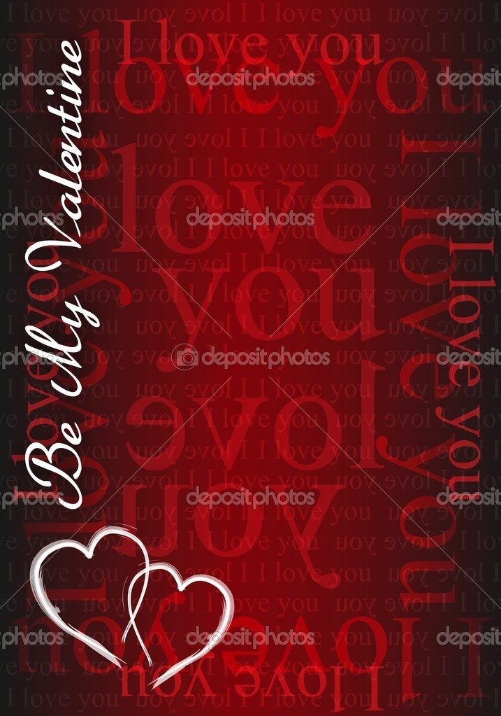 Be my Valentine - I love you card illustration design  — Stock Photo #10628938