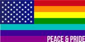 Flag of Rainbow united states illustration design — Stock Photo