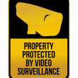 Camera Surveillance sign illustration design over a white background — Stock Photo