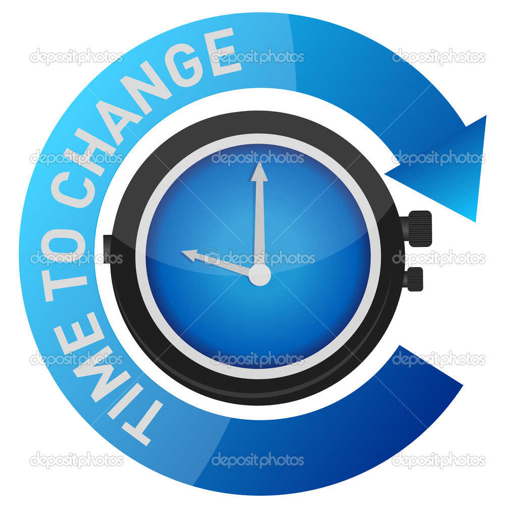 Time to change concept illustration design over white  — Stock Photo #8470375