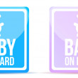 Stock Photo: Baby on board sign illustration design on white