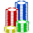 Stock Photo: Casino poker chips illustration design on white background
