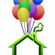 A house lifted by Balloons - illustration designs — Stock Photo #9308177