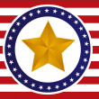 Stock Photo: US gold star flag illustration design